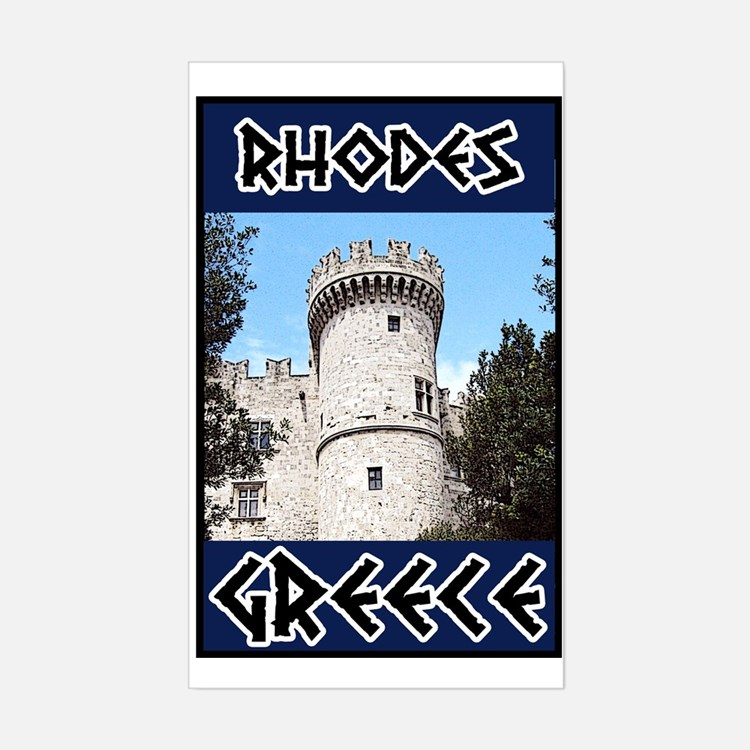 Rhodes Rectangle Decal