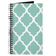 Aqua Chic Moroccan Lattice Pattern Journal