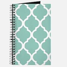 Aqua Chic Moroccan Lattice Pattern Journal