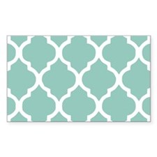 Aqua Chic Moroccan Lattice Pat Decal