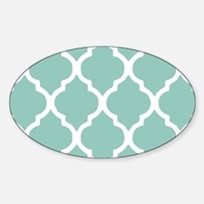 Aqua Chic Moroccan Lattice Pattern Decal