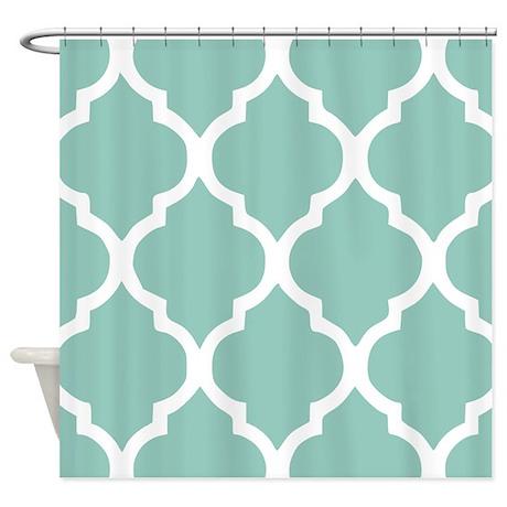 Aqua Chic Moroccan Lattice Pattern Shower Curtain By Admin Cp113754339