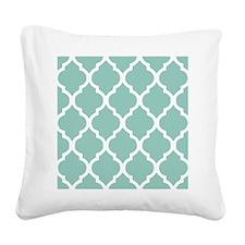 Aqua Chic Moroccan Lattice Pa Square Canvas Pillow