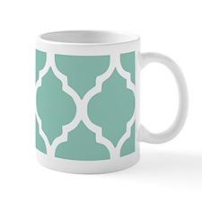 Aqua Chic Moroccan Lattice Pattern Mug