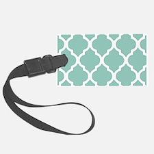 Aqua Chic Moroccan Lattice Patte Luggage Tag