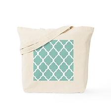 Aqua Chic Moroccan Lattice Pattern Tote Bag