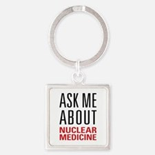 Nuclear Medicine Square Keychain
