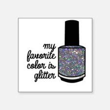 Silver Glitter Sticker