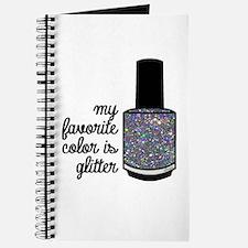 Silver Glitter Journal