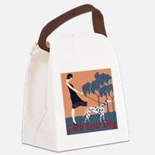 Curb Your Dog  Canvas Lunch Bag