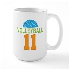 Volleyball player number 11 Mug