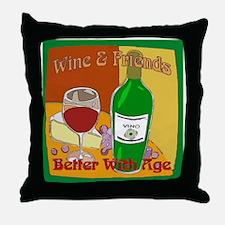 Friends Wine Throw Pillow