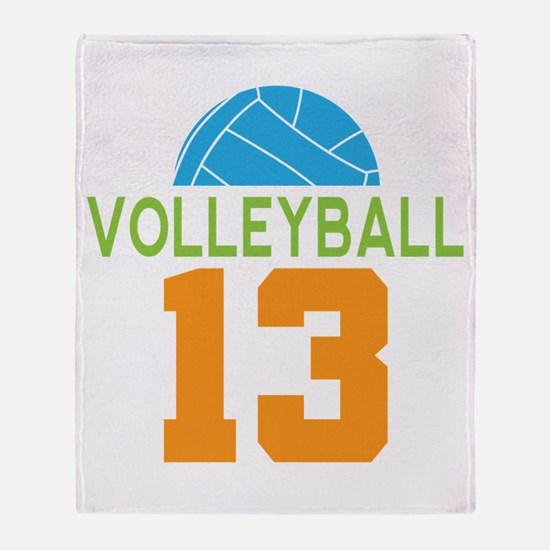 Volleyball player number 13 Throw Blanket