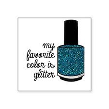 Teal Glitter Sticker