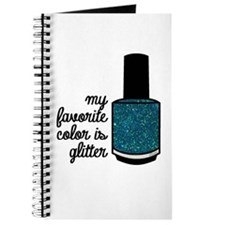 Teal Glitter Journal