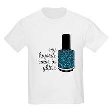 Teal Glitter T-Shirt