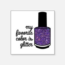 Purple Glitter Sticker