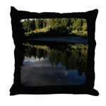 Eel River Reflection Scene Throw Pillow