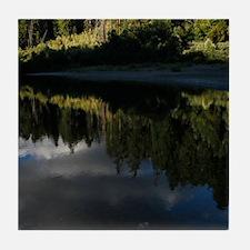 Eel River Reflection Scene Tile Coaster
