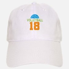 Volleyball player number 18 Baseball Baseball Cap
