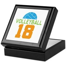 Volleyball player number 18 Keepsake Box