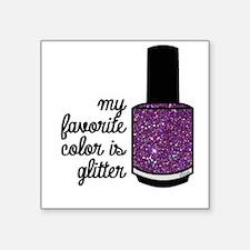 Pink Glitter Sticker