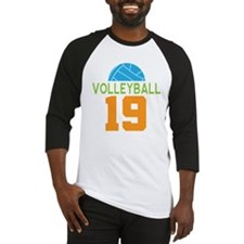 Volleyball player number 19 Baseball Jersey