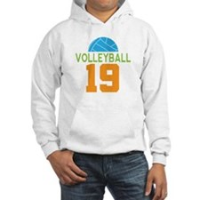 Volleyball player number 19 Hoodie