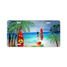 Surfing Girls Art Aluminum License Plate