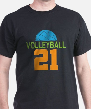 Volleyball player number 21 T-Shirt