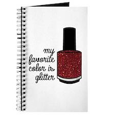 Red Glitter Journal
