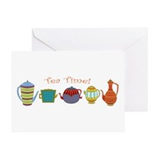Tea Time! Teapots Greeting Cards