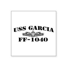 "USS GARCIA Square Sticker 3"" x 3"""