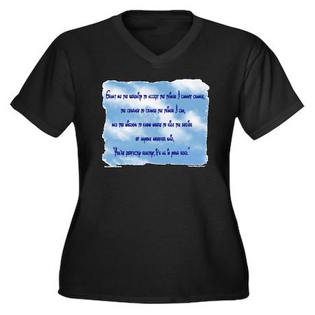 Serenity Slogan (clouds) Women's Plus Size V-Neck