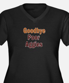 Goodbye Poor Women's Plus Size V-Neck Dark T-Shirt