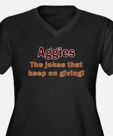 Aggies - THE Women's Plus Size V-Neck Dark T-Shirt