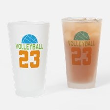 Volleyball player number 23 Drinking Glass