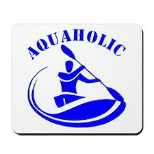 Aquaholic Kayak Guy Mousepad