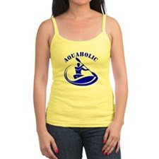 Aquaholic Kayak Guy Ladies Top
