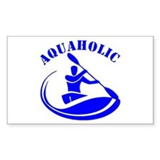 Aquaholic Kayak Guy Decal