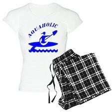Aquaholic Kayak Girl Pajamas