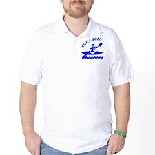 Aquaholic Kayak Girl T-Shirt