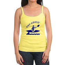 Aquaholic Kayak Girl Ladies Top
