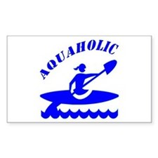 Aquaholic Kayak Girl Decal