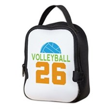 Volleyball player number 26 Neoprene Lunch Bag