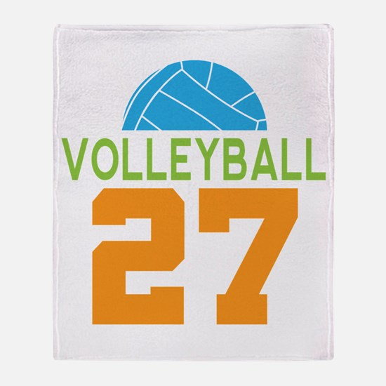 Volleyball player number 27 Throw Blanket
