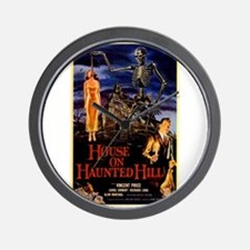 house on haunted hill Wall Clock