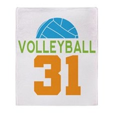 Volleyball player number 31 Throw Blanket