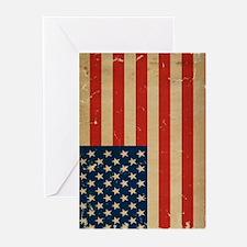 US Flag VINTAGE Greeting Cards (Pk of 10)
