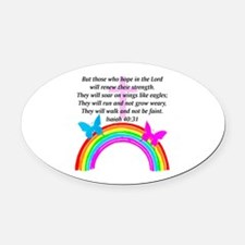 ISAIAH 40:31 Oval Car Magnet